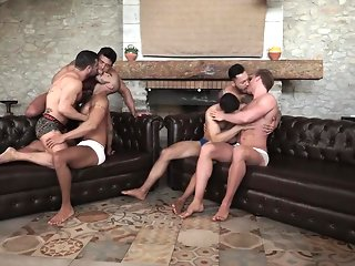 tattoo bareback threesome