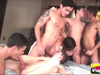cum tribute twink group sex