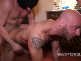 daddy bareback group sex